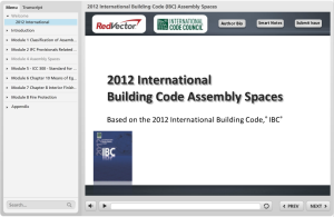 international building code, IBC, assembly spaces