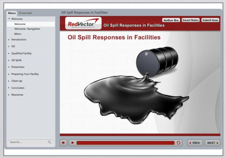 RedVector eLearning Course - Oil Spill Responses in Facilities