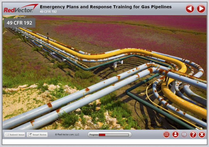 RedVector eLearning - Emergency Plans and Response Training for Gas Pipelines Image
