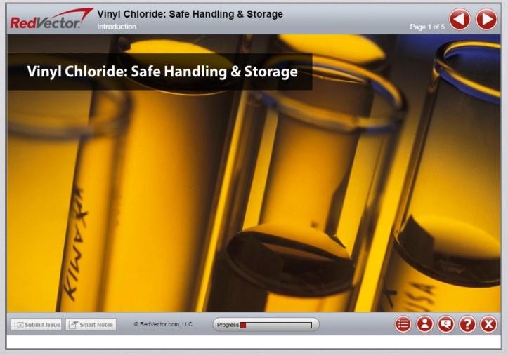 RedVector eLearning Vinyl Chloride Safe Handling and Storage