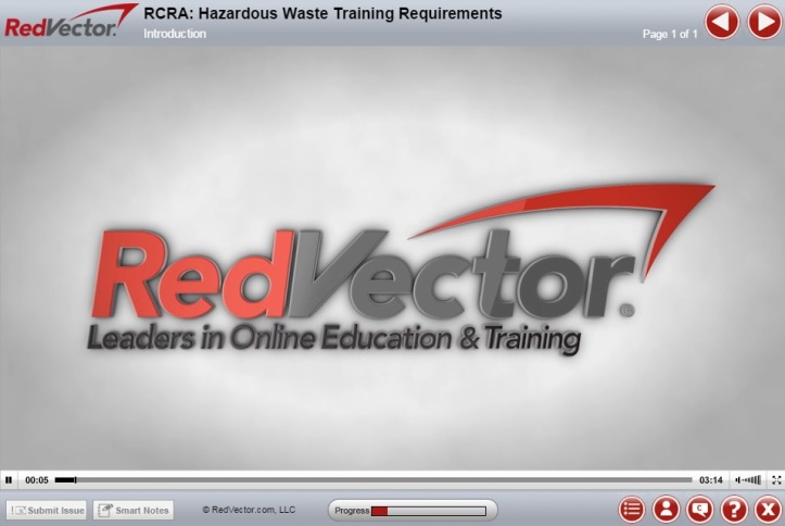 RedVector eLearning Industrial Course: RCRA