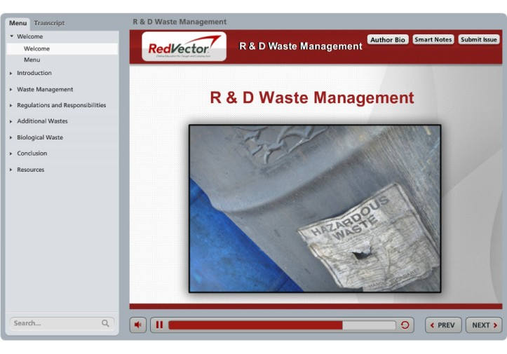 RedVector R&D Waste Management eLearning Course