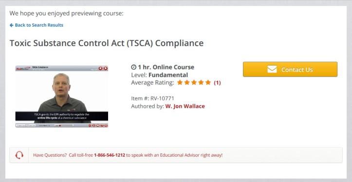 RedVector TSCA Compliance