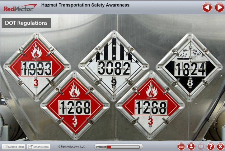 HAZMAT Transportation Safety Awareness RedVector eLearning