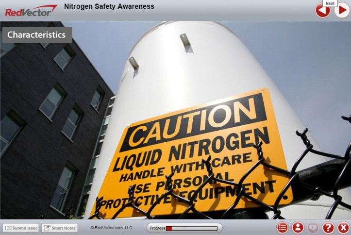 Nitrogen Safety Awareness eLearning Course RedVector