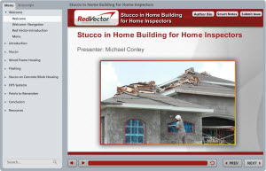Stucco in Home Building for Home Inspectors
